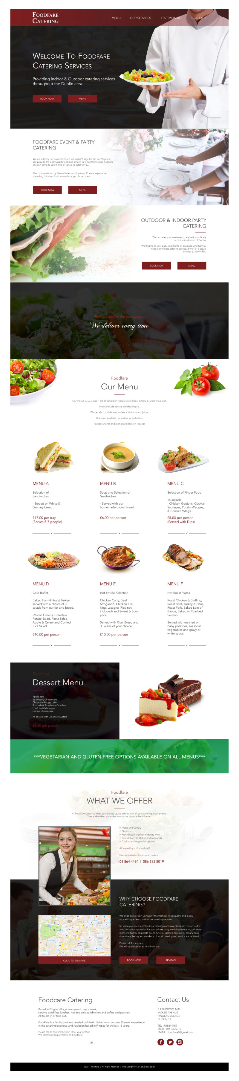 Cafe Studios Design - Homepage Preview _ Food Fare