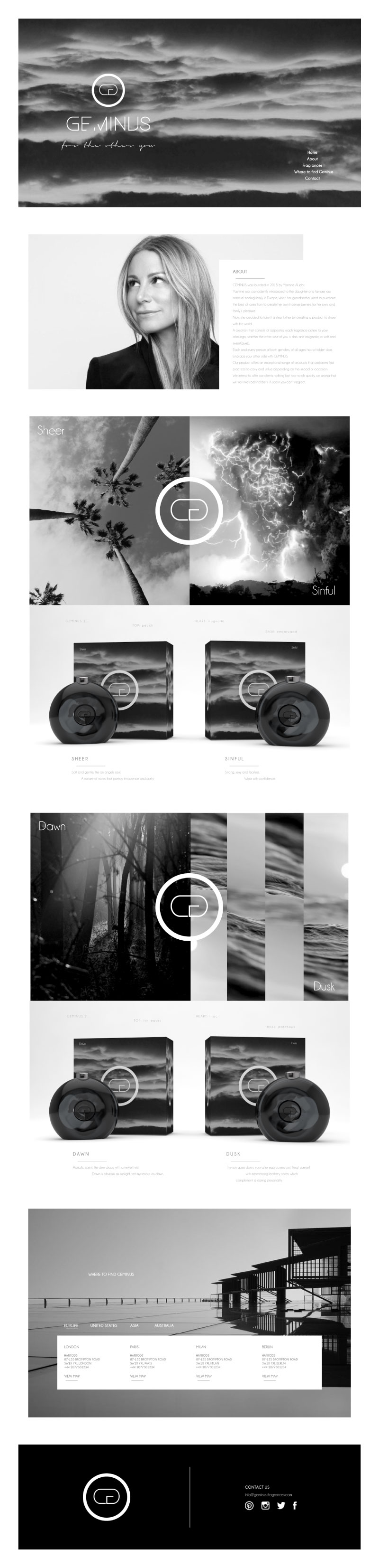 Cafe Studios Design - Homepage Preview _ G Perfumes